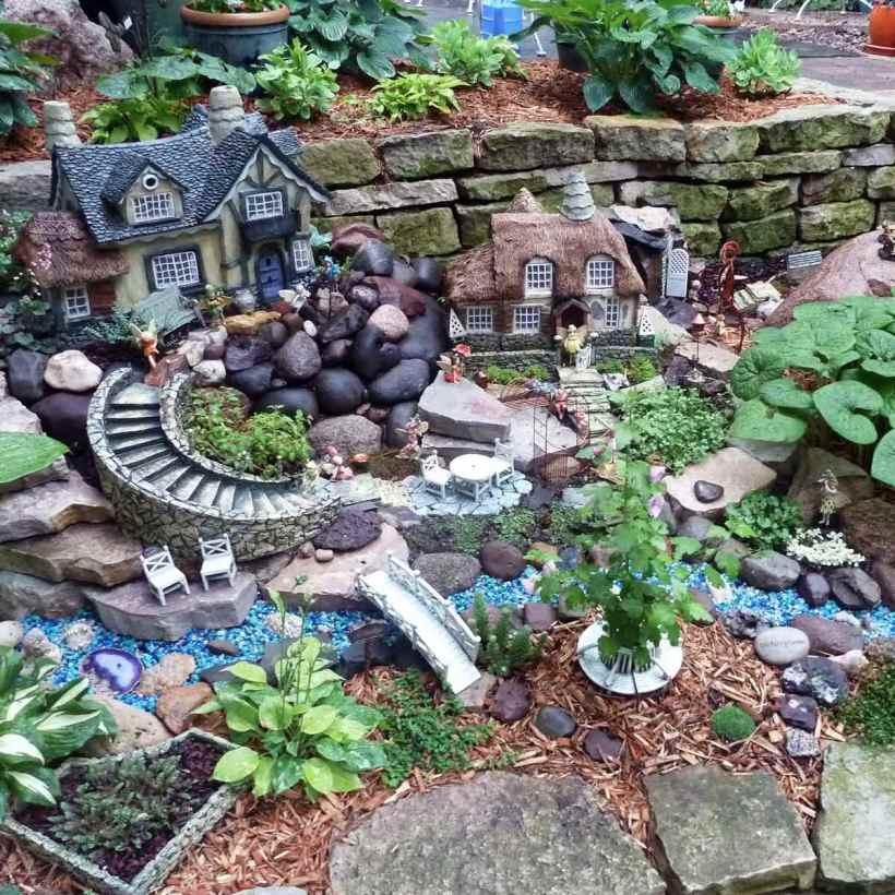A Fairy Garden into a Retaining Wall