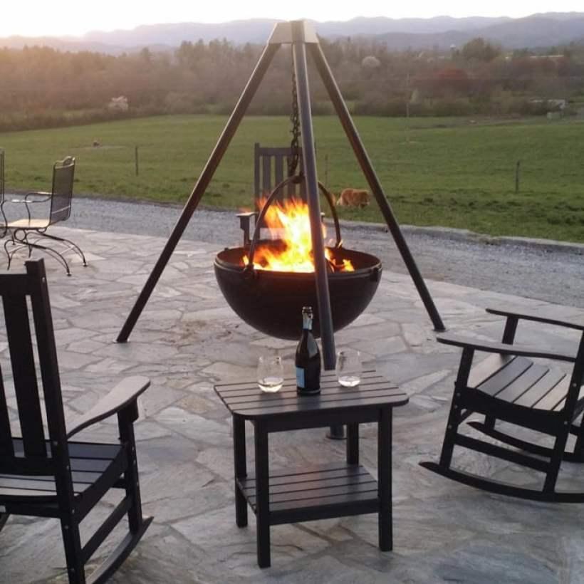 Ideas of Fire Pit with Cowboy Cauldron concept