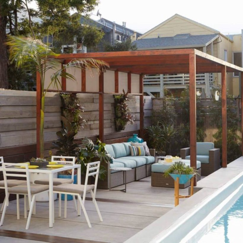 Backyard Patio by the Pool