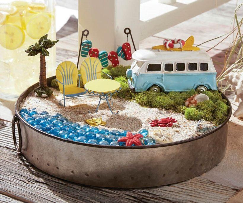 Beach-Themed Cute Fairy Garden