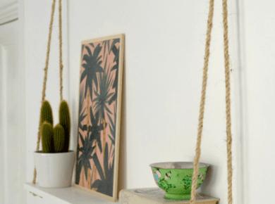 Floating Shelf with Ropes