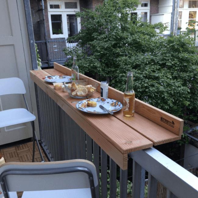 Install a Floating Shelf on Balcony
