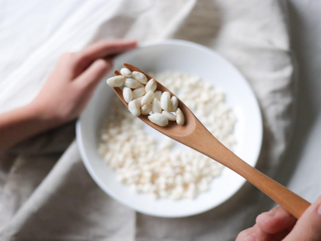 未經調味的爆米粒