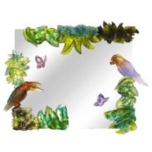 Miroir Jardin d'Eden aux deux toucans.