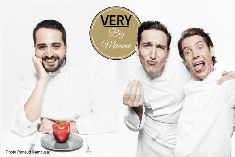 Very Big Mamma Le chef Ciro Cristiano, Victor Lugge et Tigrane Seydoux.