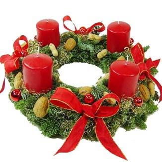 1. Couronne de Noël.