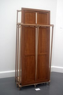 Cabinet with front of oak wooden doors (1984).
