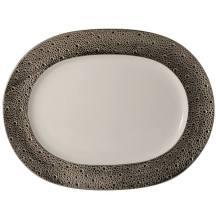 Plat oval 30 cm Ecume Platine, Bernardaud.