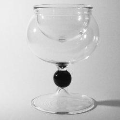 Service à caviar en verre soufflé, Caviar Perle Noire.