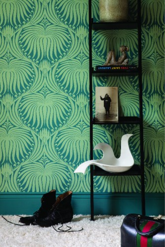 3. Papier peint Lotus, Farrow & Ball.