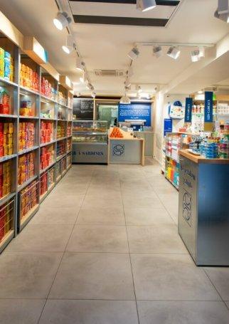 Boutique conserverie La Belle-Iloise. Photo Ariane Le Guay