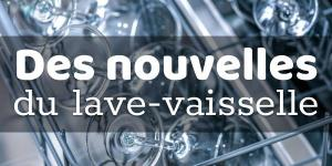 Read more about the article Des nouvelles du lave-vaisselle