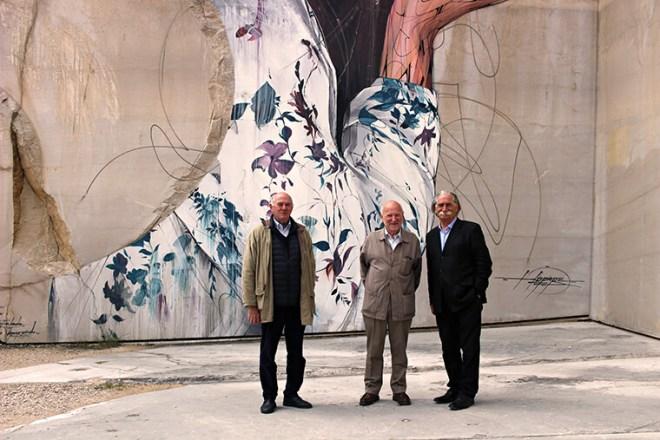 Pierre Lignier, Jean-Luc Rosier et André Valognes