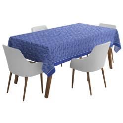 Nappe Bilbatu Vagues Bleu, Maison Jean Vier