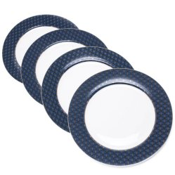 6. Assiette Plate Paon, Carrefour Home