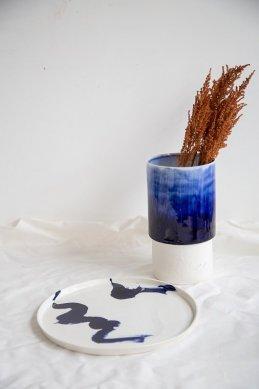 Assiette Calligraphie, Atelier Zû