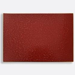 2. Plateau rectangulaire Rouge Empereur, Bernardaud