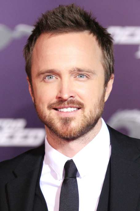 Aaron Paul short brushed up hairstyle