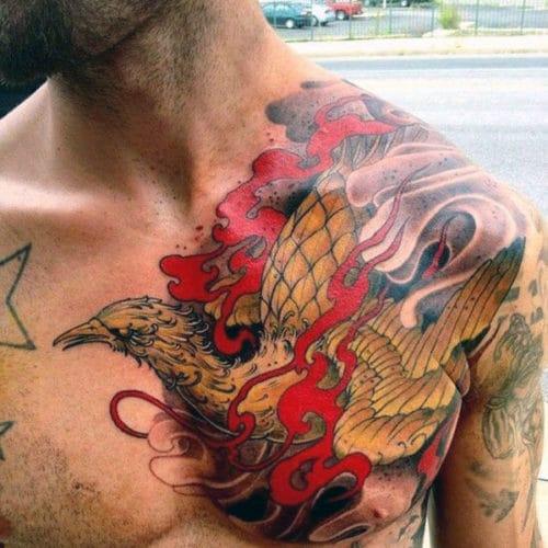 Tatouages sur le torse de Phoenix pour les hommes