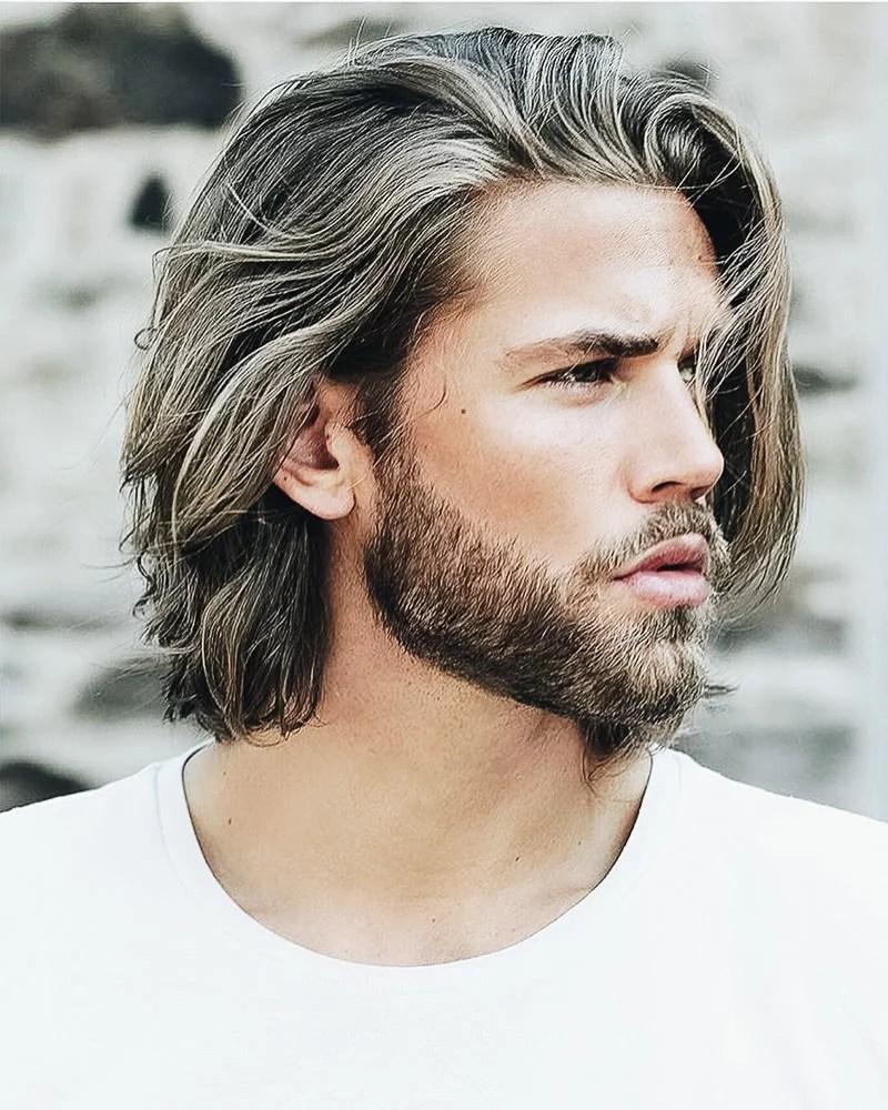 meilleures coiffures mi longues hommes coupe dépaule