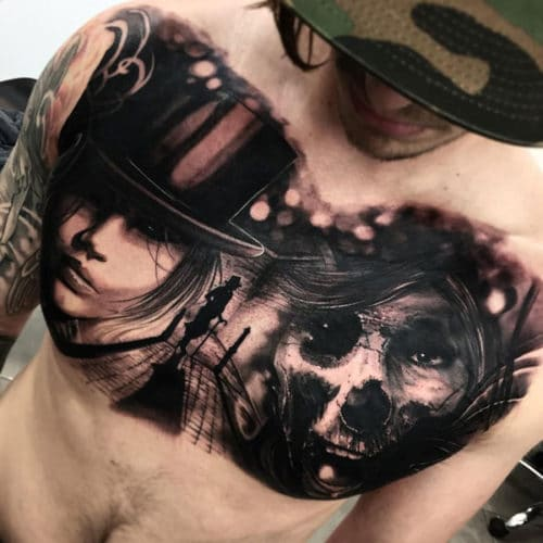 tatouage poitrine idées