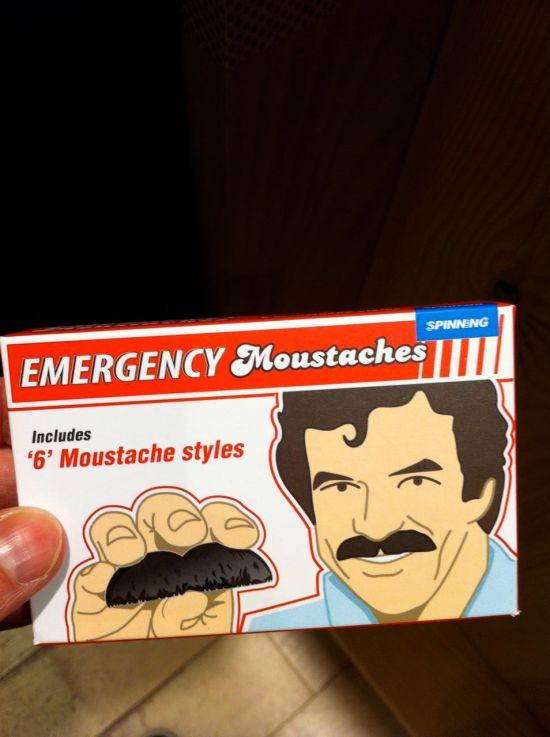 emergency moustache