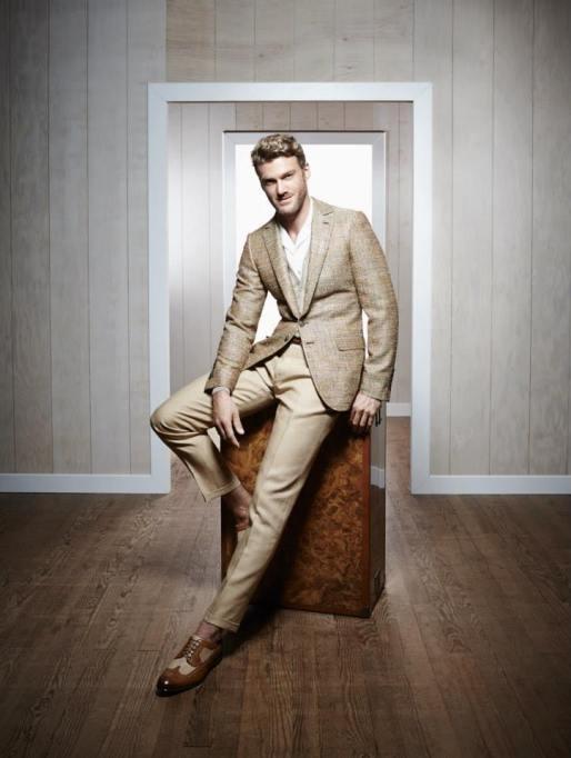 costume beige d'été smalto