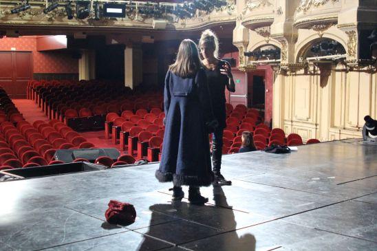 Alyzée Lalande et Véronique Bandelier (metteur en scène résident)