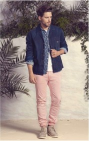 pantalon homme rose Chevignon