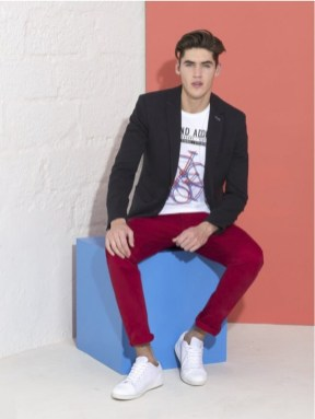 pantalon homme rouge Jules