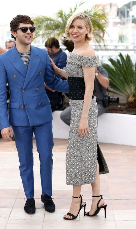 CANNES, FRANCE - MAY 13:  Jury member Xavier Dolan and Sienna Miller attend the Jury photocall during the 68th annual Cannes Film Festival on May 13, 2015 in Cannes, France.  (Photo by Andreas Rentz/Getty Images)