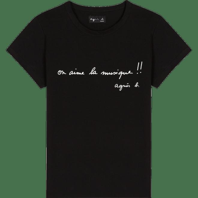 T-shirt agnès b. noir en coton 50€