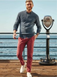 dockers pantalon rouge