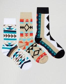 asos-lot-de-3-paires-de-chaussettes-a-imprime-azteque