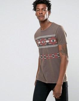 asos-t-shirt-a-imprime-azteque-retro-et-delavage-vintage