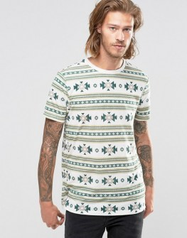 asos-t-shirt-en-melange-de-lin-avec-imprime-azteque