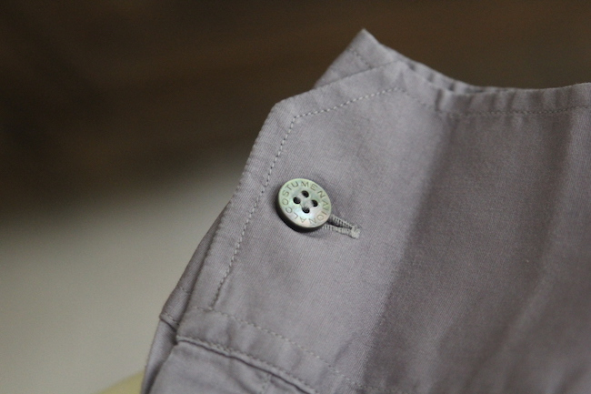bouton de chemise nacre
