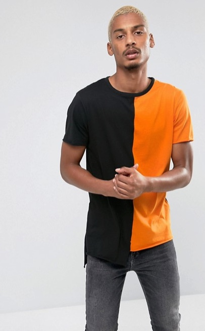 T-shirt half half
