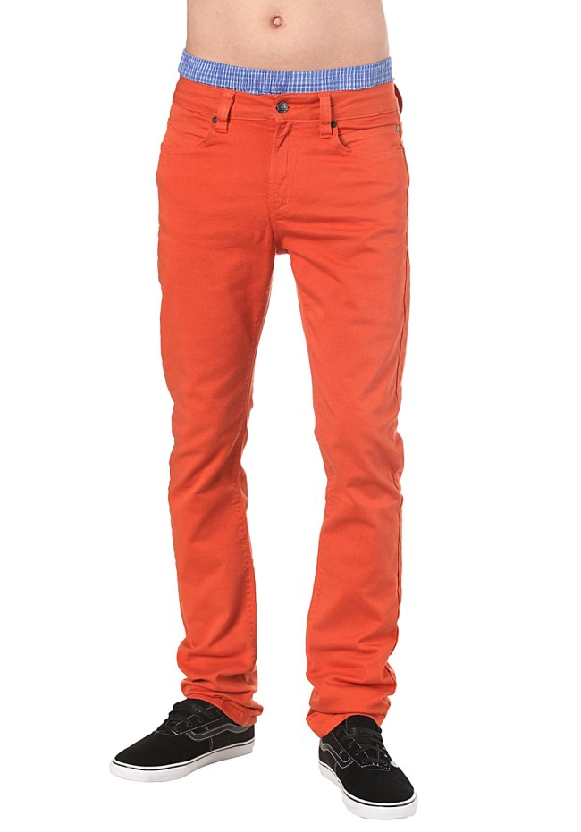 pantalon homme orange