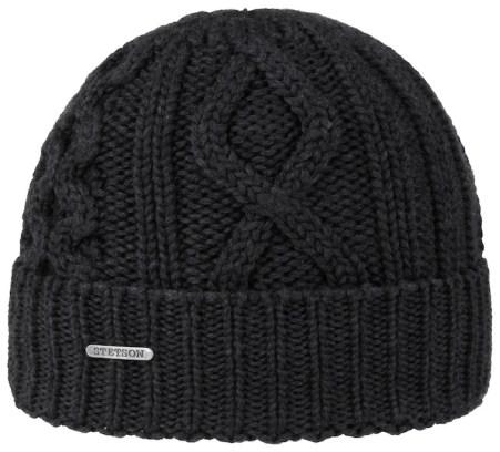 Stetson bonnet court noir à torsades