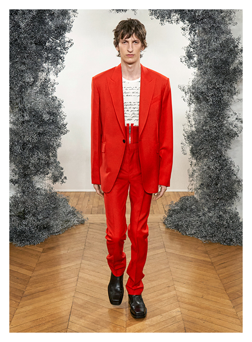 costume rouge automne hiver 2020 - 2021
