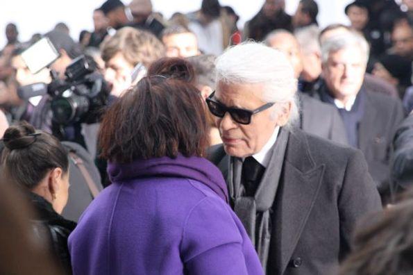 Suzy Menkes et karl Lagerfeld