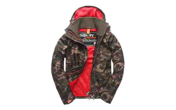blouson superdry ZIP WINDCHEATER_army camo-flame