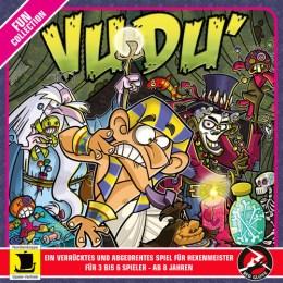 Spieleverpackung des Partyspiels Vudu