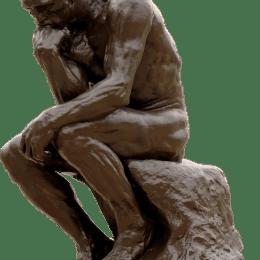 Ein Mensch beim Nachdenken - Philosoph
