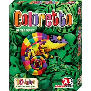 Cover von Coloretto: Chamäleon vor Blättern