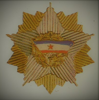 022 Order of the Yugoslav flag with a golden wreath