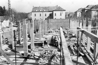 Gradnja gostinske šole 1959 v Mladinski ulici