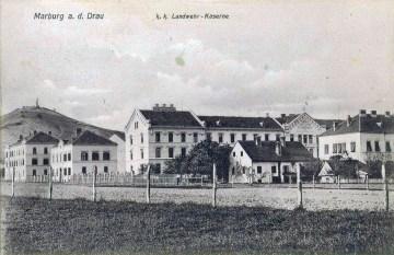 Vojašnica v Melju za časa AO