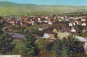 Pogled proti Tomšičevi ulici za časa AO